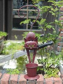 キャット プランター アイアン 寄せ植えガーデニング ガーデン 雑貨 アンティーク【花遊び】『キャット♪スタンドプランター』