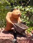 ガーデニングガーデンくまベアーウエルカム置物樹脂アニマル動物雑貨【花遊び】『ダッドベアー・L』