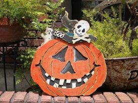 ハロウィン かぼちゃ パンプキン オーナメント『BOO!スカルパンプキン』