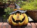 ハロウィン かぼちゃ パンプキン オーナメント【花遊び】『レトロ!プックリパンプキン』