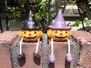 ハロウィン かぼちゃ パンプキン オーナメント【花遊び】【NEW】『足ぶら♪キュートパンプキン』