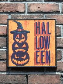 ハロウィン かぼちゃ パンプキン オーナメント『happyハロウィンボード・パンプキンタワー』