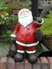 クリスマスサンタスノーマントナカイツリーイルミネーションポインセチアオーナメントポプリベルガーデニングガーデンアンティーク【花遊び】BIG♪サンタ