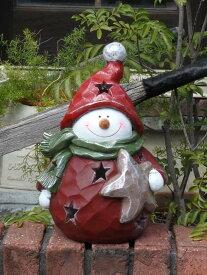 クリスマス サンタ スノーマン トナカイガーデニング ガーデン【花遊び】『ころりん♪スノーマン・L』
