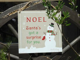 クリスマス サンタ スノーマン ガーデニング ガーデン『ノエル!スノーマンプレート』