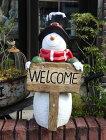 クリスマスサンタスノーマントナカイガーデニングガーデン【花遊び】『LED!サンタwelcome』