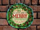 クリスマスツリーステンドグラス置物スタンド樹脂雑貨ガーデニングガーデン【花遊び】『ノエルケーキプレート』