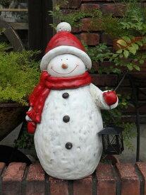 クリスマス スノーマン イルミネーション ガーデニング ガーデン【NEW】『ランタン♪カントリースノーマン』