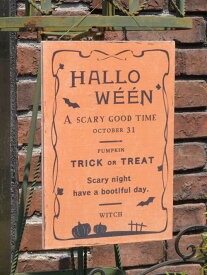 ハロウィン かぼちゃ パンプキン オーナメント『ハロウィンウッドプレート』