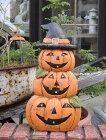 ハロウィンかぼちゃパンプキンオーナメントガーデニングガーデンアンティーク【花遊び】ハロウィンブーツドッグトリオ