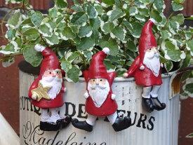 クリスマス サンタ スノーマン ガーデニング ガーデン【NEW】『フローリックサンタハング3!』