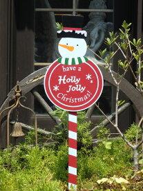 クリスマス サンタ スノーマン ガーデニング ガーデン『スノーマン♪ストップピック』