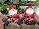 クリスマス 雑貨 ガーデニング ガーデン『エンジョイ♪サンタシッティング』