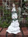 クリスマス スノーマン イルミネーション ガーデニング ガーデン『happy♪パイルアップ スノーマン』