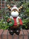 ガーデニング ガーデン クリスマス トナカイ アンティーク『happyトナカイ♪クリスマスリース』