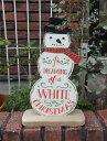 クリスマス サンタ スノーマン ガーデニング ガーデン『happy♪スノーマンサインボード』