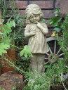 お人形 ドール ローズ イングリッシュ 英国ガーデニング ガーデン 魔除けグッズ ストーン製 送料無料【花遊び】『English Rose Girl』