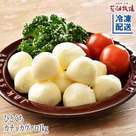 花畑牧場 ひとくちカチョカヴァロ1kg【冷凍配送】