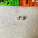 【アウトレット】オーロラ花珠 アコヤ真珠ピアス 9.5mm-10.0mm グリーン 商品番号:合格後確定