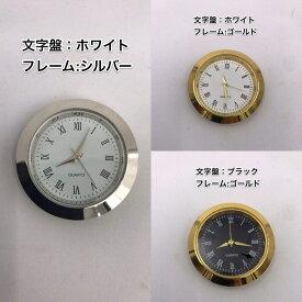 固まるハーバリウムや2液性レジン専用 はめ込み時計 小型時計 時計 《固まるハーバリウム カスタムパーツ 時計 2液性4レジン ハンドメイド オリジナル カスタマイズ ワークショップ》