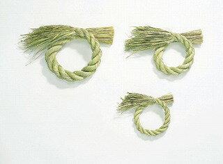 大地農園/ワラしめリース 15  5コ 5個 N/62662-000【01】【取寄】《 花器、リース しめ縄・お正月リース 稲わら 》