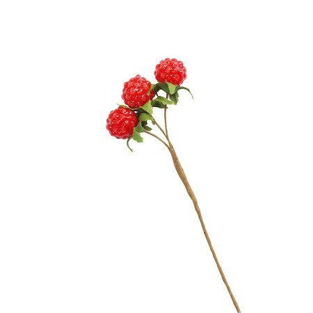 大地農園/野イチゴ・ミニ 6本 レッド/23021-300【01】【取寄】《 花資材・道具 フラワーピック フルーツピック 》