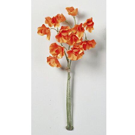 【造花】アスカ/スイトピー×12 (1束3本) オレンジ/A-32815-030【01】【01】【取寄】《 造花(アーティフィシャルフラワー) 造花 花材「さ行」 スイトピー 》