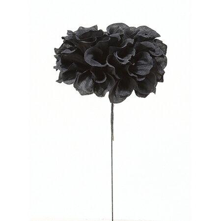 即日 【造花】アスカ/ダリアピック ブラック/A-39631-100《 造花(アーティフィシャルフラワー) 造花 花材「た行」 ダリア 》