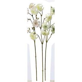 【造花】アスカ/クレマチスシード クリ−ムホワイト/A-47702-011【01】【01】【取寄】《 造花(アーティフィシャルフラワー) 造花 花材「か行」 クレマチス 》