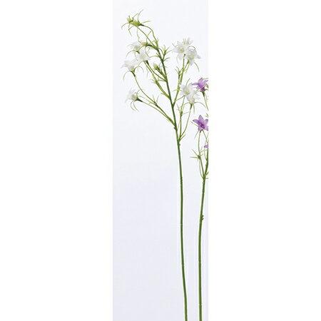 【造花】アスカ/ワイルドカンパニュラ×9 つぼみ×4 ホワイト/A-32893-001【01】【取寄】《造花(アーティフィシャルフラワー) 造花 「か行」 カンパニュラ》