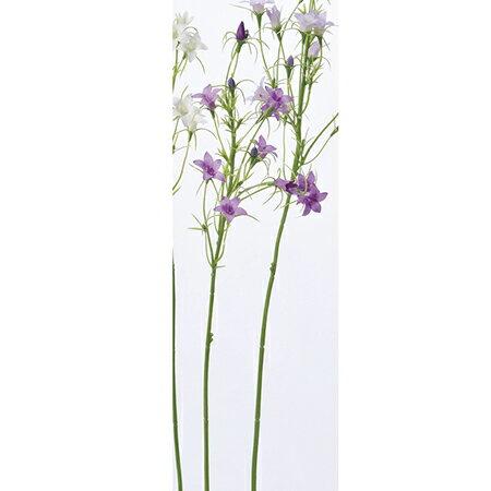 【造花】アスカ/ワイルドカンパニュラ×9 つぼみ×4 パ−プル/A-32893-007【01】【取寄】《造花(アーティフィシャルフラワー) 造花 「か行」 カンパニュラ》