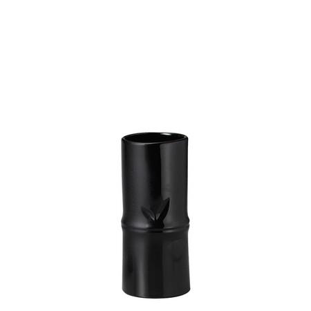 GREENHOUSE/竹風花瓶 S ブラック/019-C-BK【01】【取寄】《 花器、リース 花器・花瓶 陶器花器 》