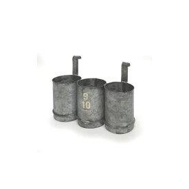 azi-azi/ティントリプルポット /AZ-1166【01】【取寄】ガーデニング用品 ポット・鉢 アイアン・ブリキポット 手作り 材料