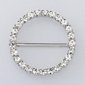 ダイヤバックル丸 31×31mm /AB000302【01】【取寄】《 花資材・道具 ブローチ・コサージュピン、金具 》