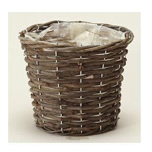 LittleGarden/オーブバスケット ラウンドM/ux0761【01】【取寄】花器、リース 花器・花瓶 バスケット(花かご) 手作り 材料