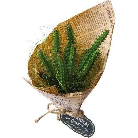 【人工観葉植物】YDM/カクタスブーケ グリーン/GLA1290-GR【01】【取寄】《 造花(人工観葉植物) 人工観葉植物「か行」 カジュアルポット 》