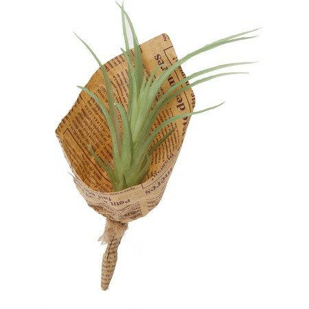 【人工観葉植物】YDM/ミニチランジアブーケ グリーン/GLA1293-GR【01】【取寄】《 造花(人工観葉植物) 人工観葉植物「か行」 カジュアルポット 》