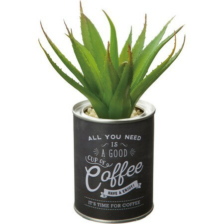 【人工観葉植物】YDM/アロエカフェポット グリーン/GLA1321-GR【01】【取寄】《 造花(人工観葉植物) 人工観葉植物「か行」 カジュアルポット 》