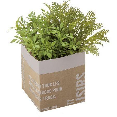 【人工観葉植物】YDM/グリーンミックスペーパーポット ダークグリーン/GLA1331-DGR【01】【取寄】《 造花(人工観葉植物) 人工観葉植物「か行」 カジュアルポット 》