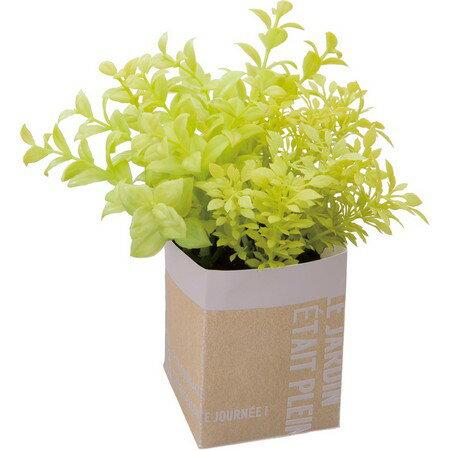 【人工観葉植物】YDM/ハートリーフミックスペーパポット イエローグリーン/GLA1333-YGR【01】【取寄】《 造花(人工観葉植物) 人工観葉植物「か行」 カジュアルポット 》
