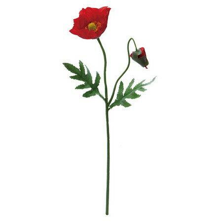 【造花】YDM/ポピー レッド/FF2864-R【01】【01】【取寄】《 造花(アーティフィシャルフラワー) 造花 花材「は行」 ポピー 》