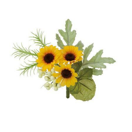 即日 【造花】YDM/ヒマワリミックスブッシュ イエロー/FS8224-Y《 造花(アーティフィシャルフラワー) 造花 花材「は行」 ひまわり 》