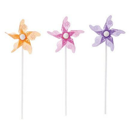 YDM/ミニフラワーパターンピック3種類のいずれか1つ。お選びいただけません。 /SMD0354【01】【01】【取寄】《 花資材・道具 フラワーピック 風車ピック 》