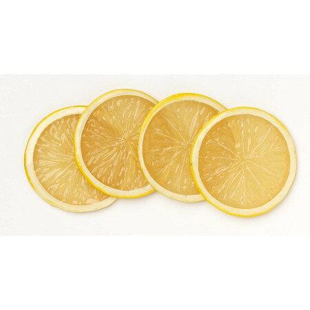 ミレニアムアート/レモンスライス(4枚入り) レモン/AFC34-Y《 造花(アーティフィシャルフラワー) 造花実物、フェイクフルーツ フルーツ、ベジタブル 》