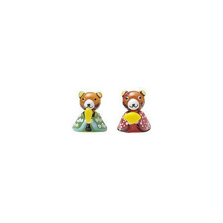 松野ホビー/ガラスのくま雛セット/MO-123【01】【取寄】[6個]《 花資材・道具 アクセサリー 和風アクセサリー 》