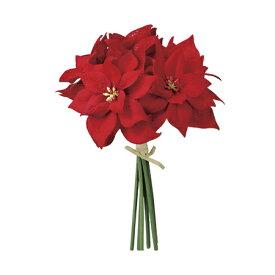 【造花】MAGIQ(東京堂)/ミニポインセチアバンドル RED /FX008148【01】【取寄】《 造花(アーティフィシャルフラワー) 造花 花材「は行」 ポインセチア 》