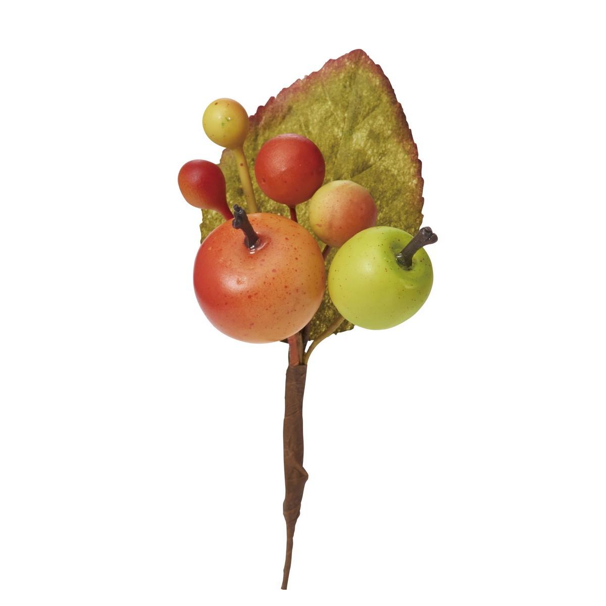 大特価 【造花】YDM/ミニアップルピック /HW -1305【01】【取寄】《 造花(アーティフィシャルフラワー) 造花実物、フェイクフルーツ アップル 》