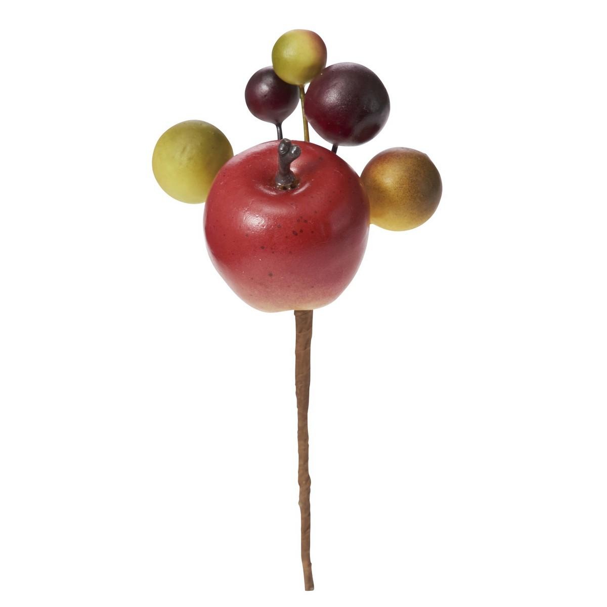 【造花】YDM/ミックスアップルピック /HW -1308【01】【01】【取寄】《 造花(アーティフィシャルフラワー) 造花実物、フェイクフルーツ アップル 》