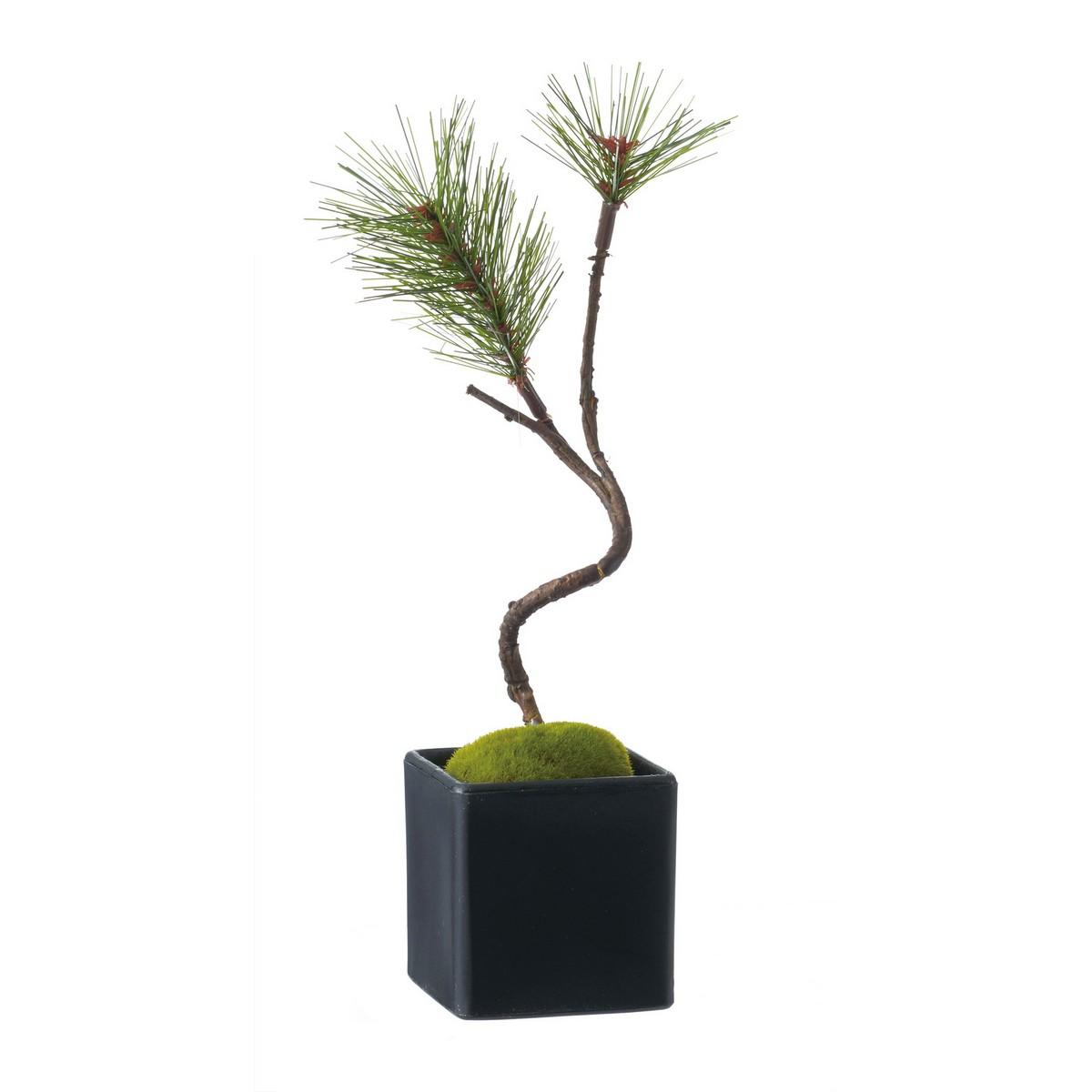 【造花】YDM/黒松盆栽 グリーン/GLA -1353-GR【01】【01】【取寄】《 造花(アーティフィシャルフラワー) 造花枝物 松 》