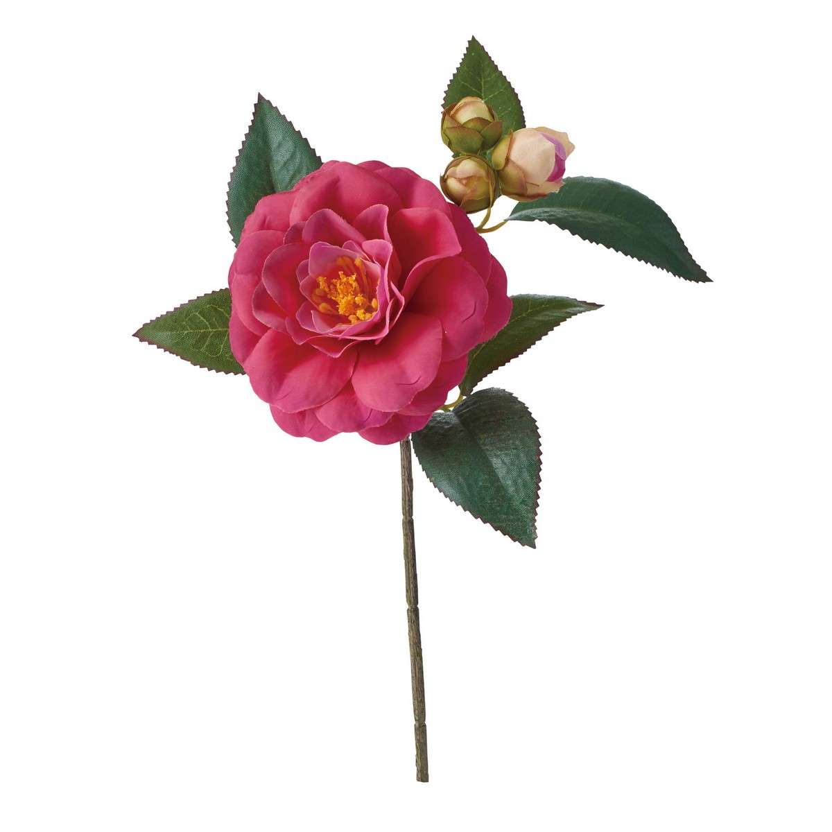 【造花】YDM/カサネツバキショート ビューティー/FS -5182-BTY【01】【取寄】《 造花(アーティフィシャルフラワー) 造花 花材「た行」 ツバキ(椿) 》